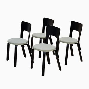 Model 66 Dining Chairs by Alvar Aalto for Artek, 1950s, Set of 4