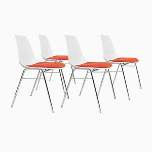 Mid-Century Modern Fiberglass Chairs, 1960s, Set of 4