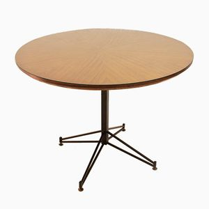 Italian Round Dining Table by Carlo Ratti, 1950s
