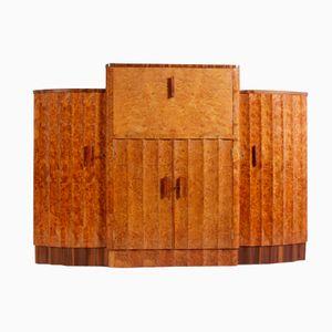 Art Deco Walnut Drinks Cabinet from Epstein, 1930s
