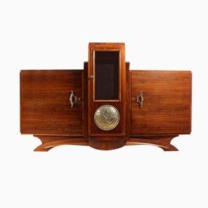 armoire pharmacie vitr e en acier poli 1930s en vente sur pamono. Black Bedroom Furniture Sets. Home Design Ideas