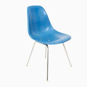 Blauer Vintage Beistellstuhl von Charles & Ray Eames für Herman Miller/Vitra