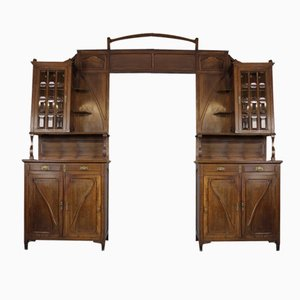 Walnuss Art Nouveau Regalsystem