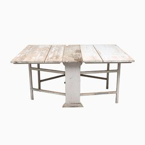Antique Swedish Painted Folding Table