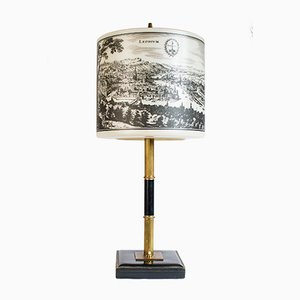 Table Lamp with Pictures of Spa and Liège, 1970s