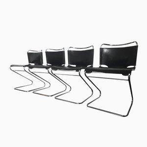 Vintage Biscia Stühle von Pascal Mourgue für Steiner, 1970er, 4er Set