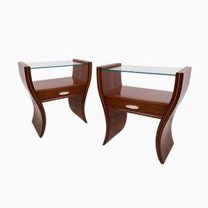 Tables de Chevet Mid-Century, Set de 2