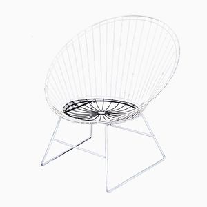 Black & White Wire Chair by Cees Braakman for Pastoe, 1950s