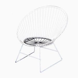 Schwarz-Weißer Wire Chair von Cees Braakman für Pastoe, 1950er