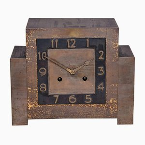 Art Deco Copper Table Clock, 1920s