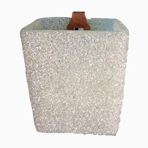 Granite, Plastic, & Teak Wall Light, 1960s