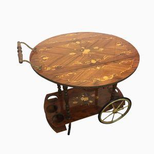 Chariot à Thé Vintage en Noyer, Italie