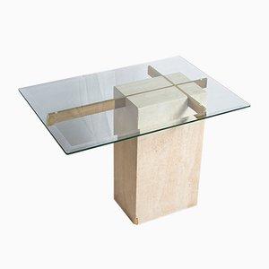 Vintage Travertine Side Table