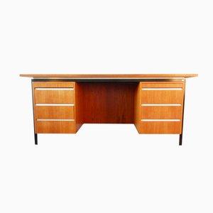 Großer Vintage Schreibtisch mit Teak Furnier von Eeka, 1960er