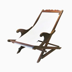 Vintage Portuguese Deck Chair, 1930s