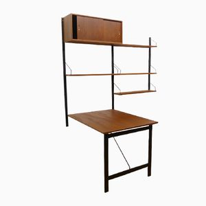 Teak Wall Unit with Desk and Table by Poul Cadovius