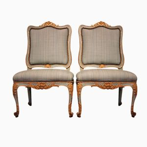 Antique Spanish Carlos III Chairs with Original Polychromy