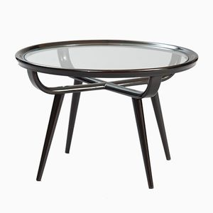Mid-Century Italian Ebonized Side Table
