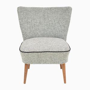 Vintage Czech Cocktail Armchair in Grey