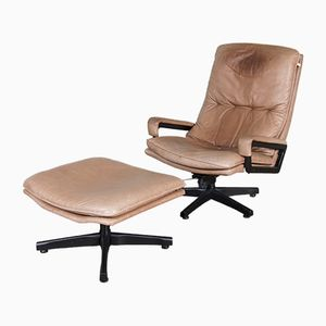 King Lounge Chair and Ottoman by André Vandenbeuck for Strässle
