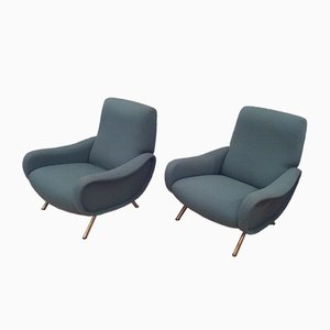 Italian Lady Armchairs by Marco Zanuso for Arflex, 1960s, Set of 2