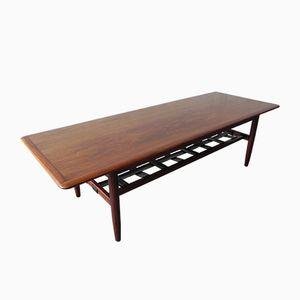 Danish Rosewood, Teak, & Leather Coffee Table