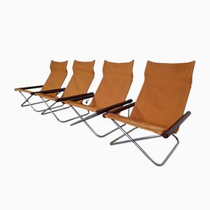 Folding Chairs by Takeshi Nii for Suekichi Uchida, 1960s, Set of 4