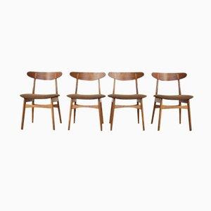 Vintage CH30 Stühle von Hans J. Wegner für Carl Hansen & Søn, 4er Set