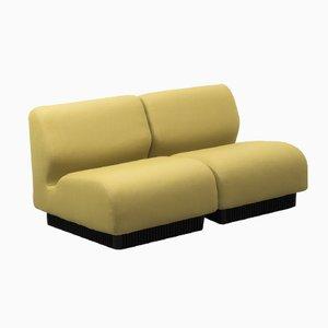 Gelbes Britisches Modulares Sofa von Don Chadwick für Herman Miller, 1970er