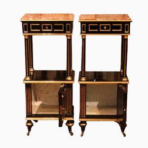 Napoleon III Ebonised Bedside Tables, Set of 2