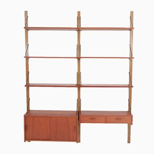Danish Wall-Mounted Teak Bookcase