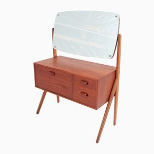 Teak Dressing Table with Pivoting Mirror