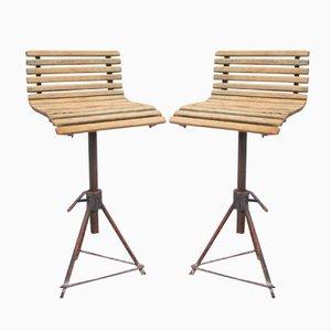 Chaises Industrielles, Belgique, 1950s, Set de 2