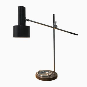 Vintage Desk Lamp with Marble Foot and Ashtray