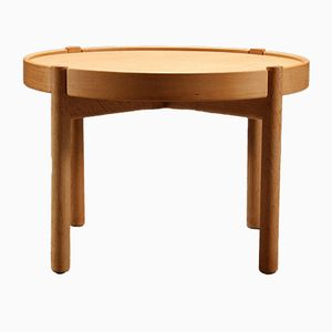 Danish Reversible Tray-Top Oak Side Table by Borge Mogensen, 1960s