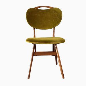Dutch Teak Velvet Green Dining Chair from AWA Furniture