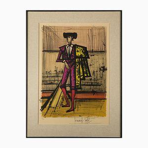 Affiche Lithographique Torero Vintage par Bernard Buffet, 1950s
