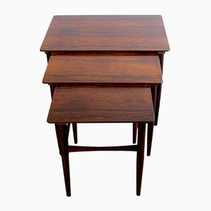 Danish Rosewood Nesting Tables, 1950s, Set of 3