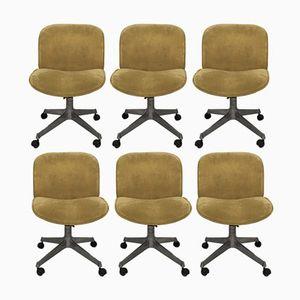 Chaises Office par Ico Parisi pour MIM, 1960s, Set de 6