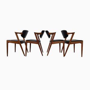 Chaises de Salon Modèle 42 en Teck par Kai Kristiansen pour Schou Andersen, 1960s