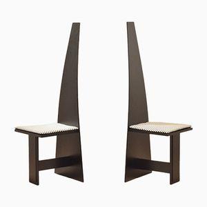 Chaises d'Entrée Modernistes Peintes en Contreplaqué, 1930s, Set de 2