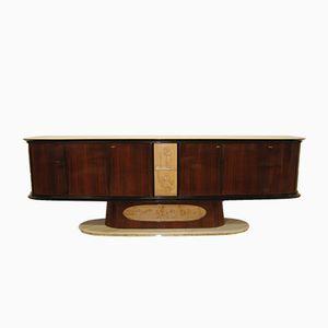 Italian Rosewood & Maple Sideboard, 1940s