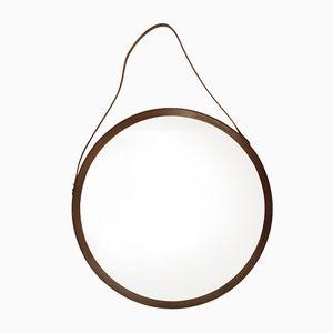 Round Italian Bentwood Mirror, 1960s