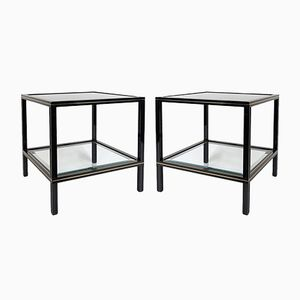 Black Metal Side Tables by Pierre Vandel, 1970s, Set of 2