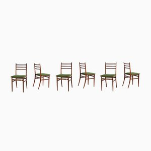 Trieste Dining Chairs by Guglielmo Ulrich for Saffa, 1961, Set of 6