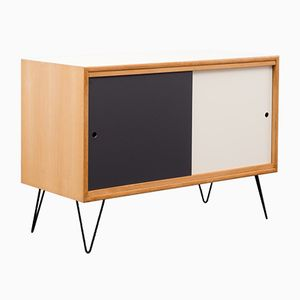 Highboard with Coloured Fronts and Interior Shelf, 1960s