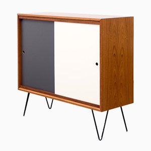 Sideboard with Coloured Fronts and Interior Shelf, 1960s