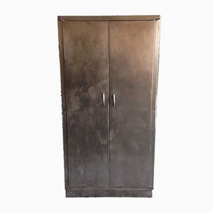 Industrial Sheet Metal Kitchen Cabinet, 1950s