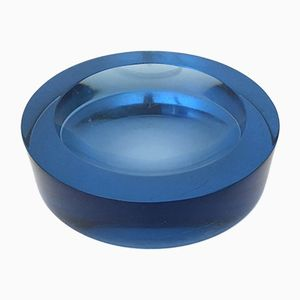 Light Blue Glass Ashtray, 1970s