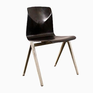 Vintage Chair with Black Seat from Pagholz Flöttoto